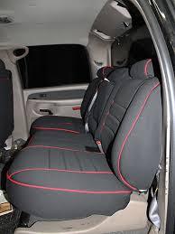 gmc sierra full piping seat covers rear seats