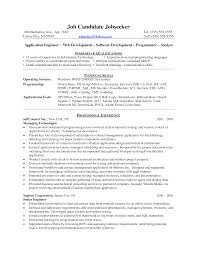 Agreeable Sample Resume Programmer Analyst For Your Business