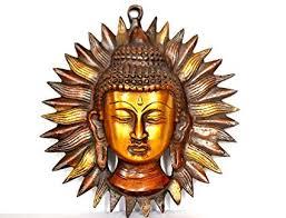 buddha meditating wall hanging mask vintage buddhism buddha face wall sculpture indian metal wall on buddha wall art metal with amazon buddha meditating wall hanging mask vintage buddhism