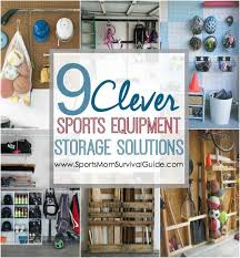 Do you have sports equipment all over your house and car? Find 9 clever  sports