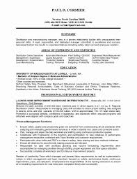 Warehouse Duties Resume Summary For Worker Manager Job Compliance