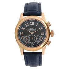 titan blue round dial leather strap chronograph watches for men 1562wl02 at best in india titan co in titan