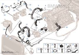 cooling system coolant hoses bmw 3 e92 335i n54 usa cooling system coolant hoses