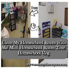 Share Space Clean My Homeschool Room With Me Mini Homeschool Room Tour
