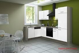 High Quality Eck Küche Küchenzeile L Form Winkelküche Ohne Geräte Einbauküche 270x175 Cm  Weiß
