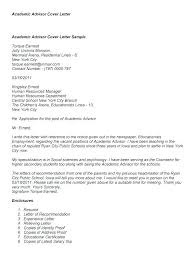 Admission Counselor Cover Letter Unique Academic Advisor Cover Letter Creativeletterco