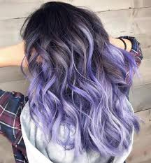 Brown Hair With Purple And White