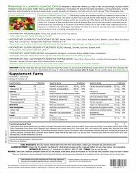 Shakeology Ingredient Chart Supplement Facts Fit With Kris