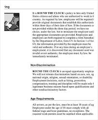 Sample Employee Handbooks Employee Handbook Sample 9 Free Pdf Documents Download