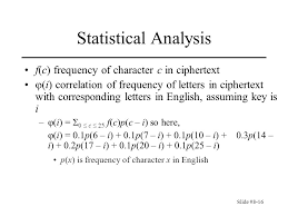 slide chapter basic cryptography classical cryptography  16 slide 8 16 statistical analysis