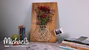 Diy String Art Diy Floral String Art Michaels Youtube