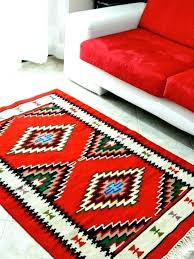 handmade diamond small rug red and white round rugs