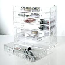 muji acrylic makeup organizer with drawers cosmetics drawer large clear cube from etsy