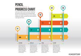 Chart Progress Pencil Progress Chart Infographic Buy This Stock Template
