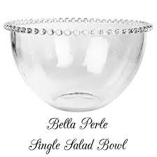 Decorative Glassware Bowls Large Glass Serving Bowl With A Beaded Edge Use as a salad bowl 38