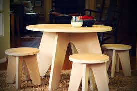 custom modern kids table and two stools made to order from with regard prepare 0