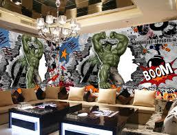 office graffiti wall. aliexpresscom buy avengers photo wallpaper custom 3d hulk graffiti wall mural children bedroom office tv backdrop super hero room decor from