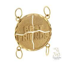 gold best friends pendant