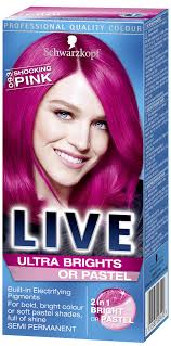 Live Ultra Brights Or Pastel Shocking Pink Pink Hair Dye In