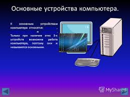 Презентация на тему Устройство компьютера презентация Ученики  4 Основные устройства компьютера