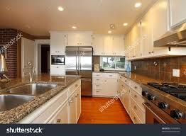 Oak Floors In Kitchen Luxury White Kitchen Oak Floors Beautiful Stock Photo 72463084