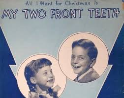 all i want for christmas is my two front teeth sheet music two front teeth etsy