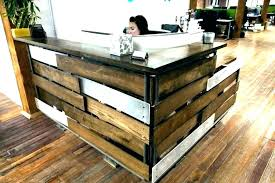 reception desks ideas choice material for reception