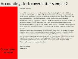 Cover Letter Accounting Clerk Accounting Clerk Cover Letter