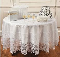elegant round white lace tablecloth kitchen linen dining table cloth 84 dia new