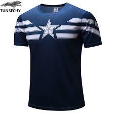 TUNSECHY 2019 Captain America <b>T Shirt 3D</b> Printed <b>T shirts</b> Men ...