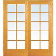 both active unfinished pine glass 10 lite clear