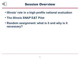 Snap E T Pilot Evaluation For Illinois