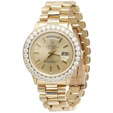 President Diamond Rolex Band Watch Gold 18k Tradesy - Mens Day-date With Yellow