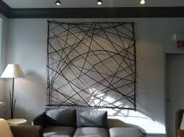 abstract living room iron art