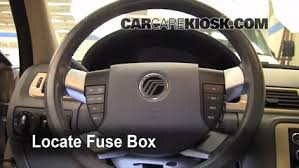 interior fuse box location mercury sable mercury locate interior fuse box and remove cover