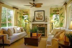 casual decorating ideas living rooms. Bright Tropical Themed Living Room With Fan Casual Decorating Ideas Rooms L