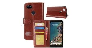 for google pixel 2 xl wallet case stylish wild horse durable leather cover brown kogan com