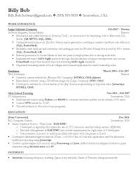 Software Engineer Resume Resumes