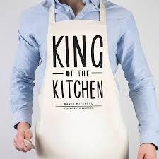 kitchen apron. king of the kitchen apron