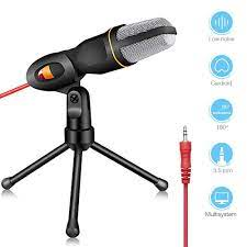 USB Condenser Professional PC Microphone 3.5mm Studio Stereo Desktop  Microfone for YouTube Video Skype Vlog Gaming Podcast Live Microphones
