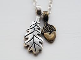 my silver oak leaf and bronze acorn pendants from growler
