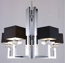 stylish black chandelier lamp imogen modern chrome and black chandelier lamp