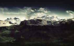 dark nature background hd.  Dark Mountain Clouds Dark Nature Landscape HD Wallpaper Desktop Background For Dark Nature Hd