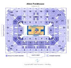 Allen Fieldhouse Seating Chart
