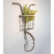 vintage 3d bicycle wall decor on metal bike with basket wall decor with vintage 3d bicycle wall decor snazzy little things