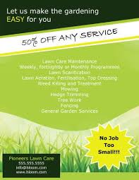 Sample Flyers For Landscaping Business No Job Too Small Landscaping Flyer Template Lawn Care
