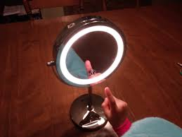 visage pro style double sided lighted mirror
