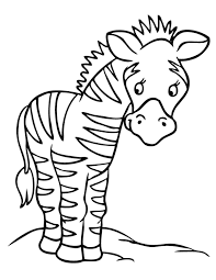 Small Picture Cute Preschool Coloring Pages Zebra Animal Coloring pages of