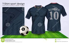 Sports T Shirt Design For Girls Soccer Jersey And T Shirt Sport Mockup Template Stock Vector
