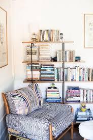 a fun unusual bookshelf and super comfy reading chair x